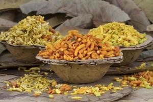 rajasthani mixure namkeen, cibo indiano foto