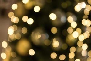 natale con sfondo chiaro bokeh oro