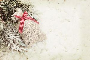 sfondo di decorazione borsa regalo di Natale vintage
