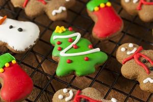 tradizionali biscotti di Natale pan di zenzero ghiacciato