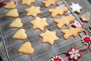 primo piano di biscotti di Natale