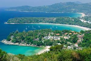 vista a volo d'uccello di phuket, thailandia