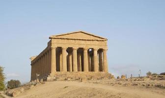 tempio della concordia agrigento, sicilia (italia) foto