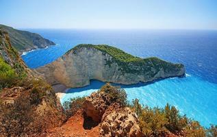 Navagio Beach sull'isola di Zante in Grecia