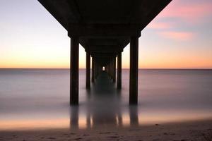 crepuscolo, molo di Brighton, Adelaide