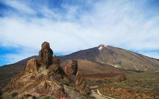 vista del parco nazionale di el teide