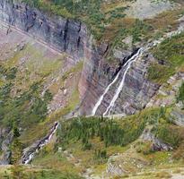 grinnell falls, parco nazionale del ghiacciaio foto