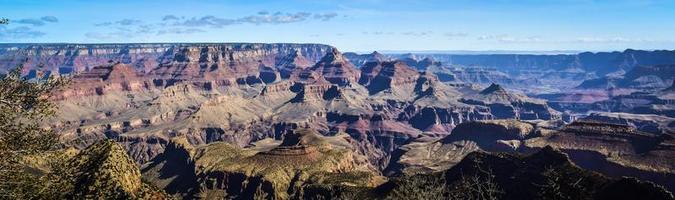 panorama impressionante sul grand canyon foto