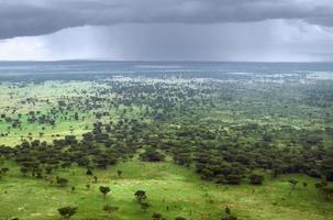 vista aerea del parco nazionale della regina elisabetta foto