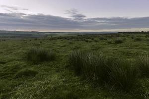 North York Moors all'alba, Levisham, Yorkshire, Regno Unito.