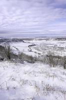 North York Moors in inverno, Goathland, Yorkshire, Regno Unito.