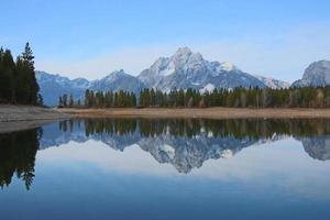 colter bay nel parco nazionale del grand teton foto