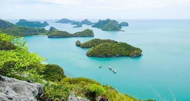 vista dell'isola del parco nazionale di ang thong