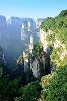 paesaggio di montagna del parco nazionale di Zhangjiajie, Cina