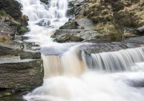 cascata nel parco nazionale di peak district