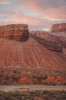 vista su un canyon rosso