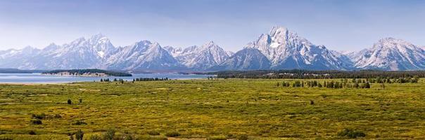 panorama del parco nazionale del grand teton, wyoming, usa foto