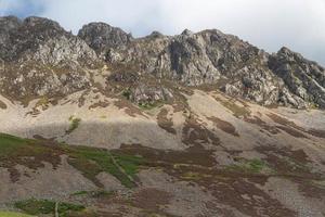 craig y bera, scogliere di mynydd mawr, snowdonia.