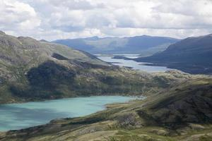 Lago Gjende visto dalla montagna Knutshoe (Norvegia)