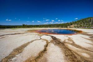 Piscina turchese, vicino a Grand Prismatic Spring in Yellowstone USA