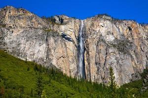 Yosemite coda di cavallo cascata caduta in primavera in California