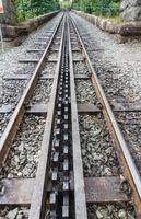 ferrovia di montagna a scartamento ridotto a cremagliera e pignone, snowdon, galles.