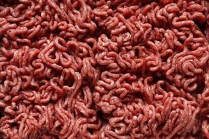 fotografia di carne macinata cruda per sfondo alimentare