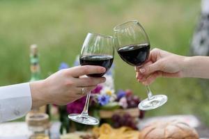 i bicchieri di vino foto