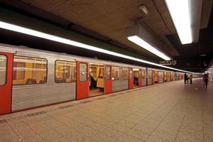 stazione della metropolitana di Amsterdam nei Paesi Bassi