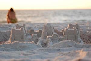 castello di sabbia sulla spiaggia di clearwater