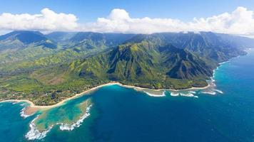 vista aerea di Kauai foto