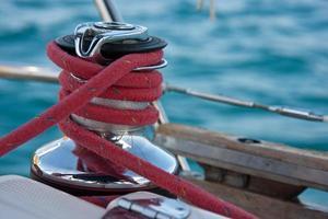 argano sullo yacht foto
