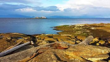 isola gabriola e faro dell'isola d'ingresso foto