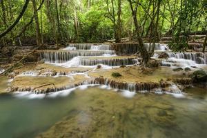 huai mae kamin cascata a kanchanaburi, in thailandia
