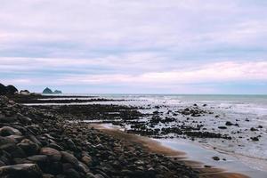 spiaggia di sabbia marrone foto