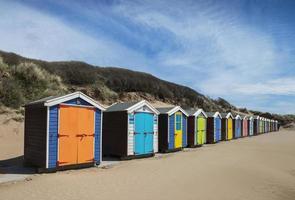 saunton sands beach capanne foto