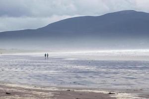 tempo tempestoso sulla spiaggia