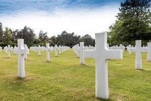 cimitero americano, spiaggia di Omaha. foto
