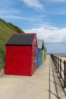 capanne sulla spiaggia di mundesley foto