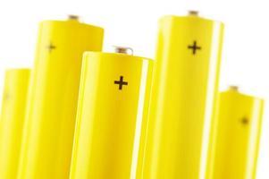 composizione con batterie alcaline. rifiuti chimici foto
