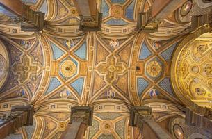 roma - affresco del soffitto nella chiesa di santa maria dell anima