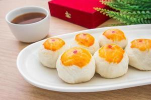 pasticceria cinese o torta della luna, dessert del festival cinese foto