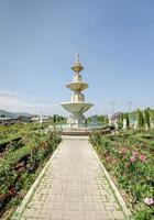 vecchia fontana in giardino