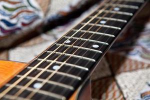 tastiera della chitarra foto