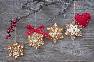 biscotti di panpepato fiocco di neve foto