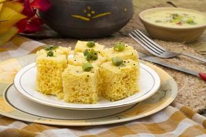 khaman dhokala cuisine foto