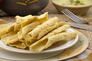 fafda, cibo di strada indiano foto