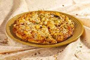 stile indiano di pizza paneer piatto italiano