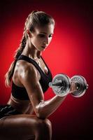 fitness con manubri