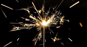 sparkler scintilla di luce foto